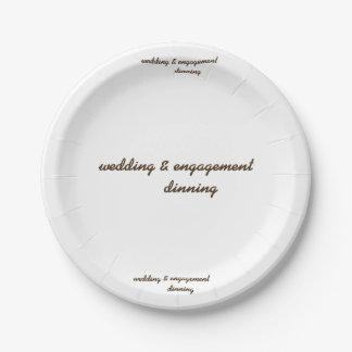 Plato De Papel boda de encargo y placa de papel del compromiso