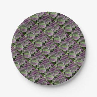 Plato De Papel Bola de cristal del plástico