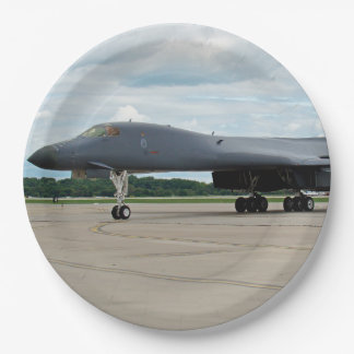 Plato De Papel Bombardero del lancero de B-1B en la tierra
