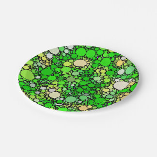Plato De Papel Burbujas de Zazzy, verdes