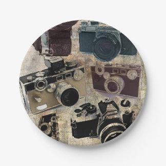 Plato De Papel Cámara del vintage de la fotografía del fotógrafo