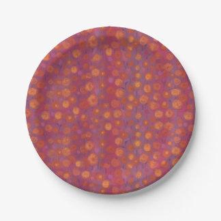 Plato De Papel Campo del caramelo, estampado de flores abstracto,