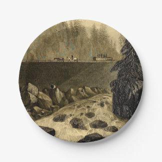 Plato De Papel Canal Erie histórico bicentenario