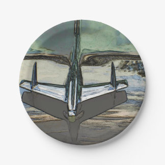 Plato De Papel Capilla del coche como placas de papel de arte