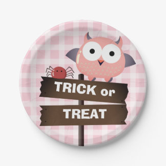 Plato De Papel Casa encantada adaptable de Halloween - de Mochi