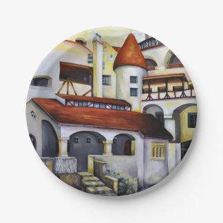 Plato De Papel Castillo de Drácula - el patio interior