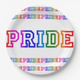 """Plato De Papel Celebración 9"""" del ORGULLO del arco iris placa del"""