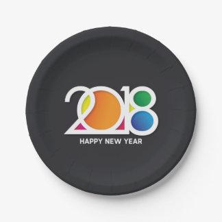 Plato De Papel Celebración del fiesta del Año Nuevo del arte