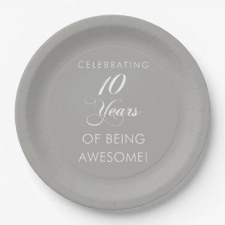 Plato De Papel Celebrando 10 años de ser impresionante