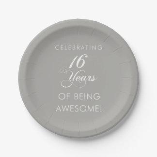 Plato De Papel Celebrando 16 años de ser fiesta impresionante