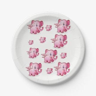 Plato De Papel Cerdos de las placas de papel