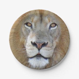 Plato De Papel Cierre majestuoso del león para arriba