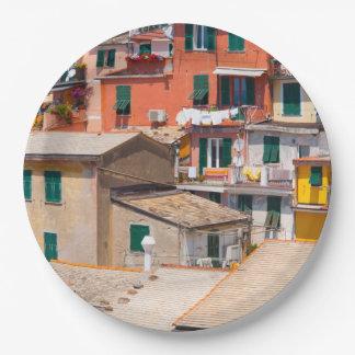 Plato De Papel Cinque Terre Italia en la Riviera italiana