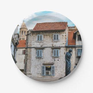 Plato De Papel Ciudad vieja, fractura, Croacia