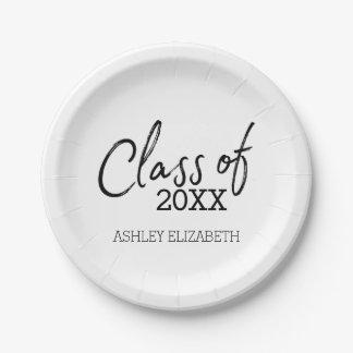 Plato De Papel Clase de la fiesta de graduación 2018