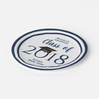 Plato De Papel Clase de la fiesta de graduación 2018 del graduado