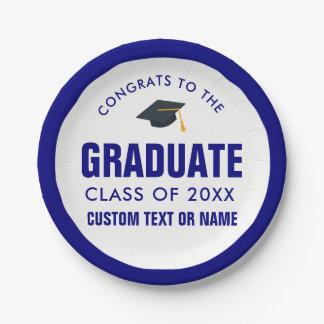 Plato De Papel Clase del casquillo del graduado de la graduación