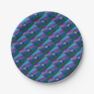 Plato De Papel Color de facetas en vidrio