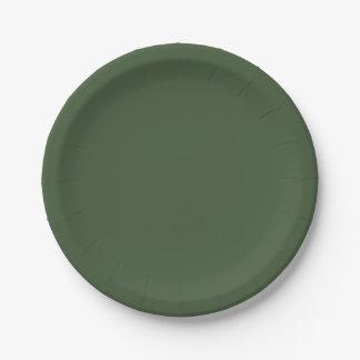 Plato De Papel Color sólido de Forest Green