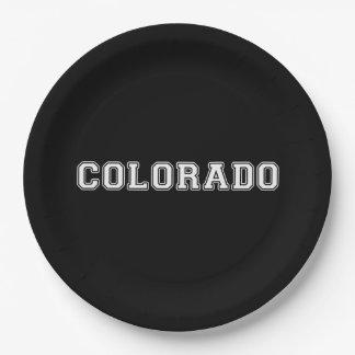 Plato De Papel Colorado