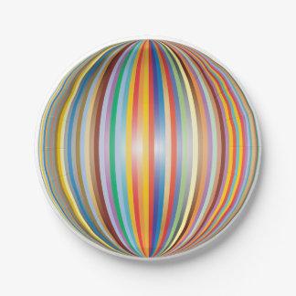 Plato De Papel Colores del arco iris