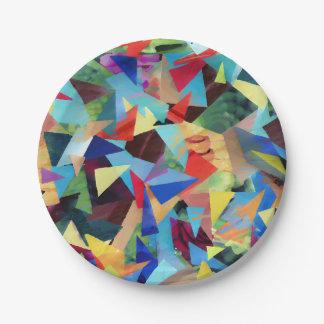 Plato De Papel colorido