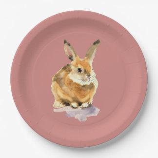 Plato De Papel Conejo