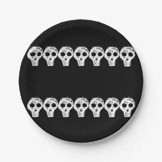 Plato De Papel Cráneos 4Lonnie de Halloween