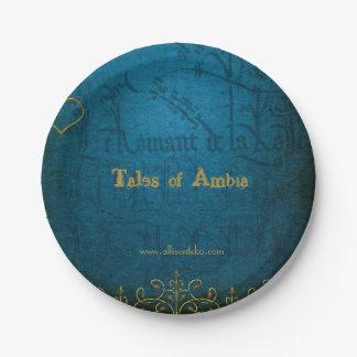Plato De Papel Cuentos de las placas de papel de Ambia