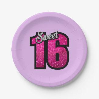 Plato De Papel Cumpleaños del dulce 16