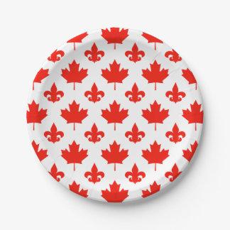 Plato De Papel Día de Canadá su color de fondo