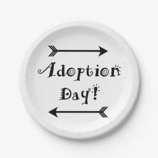 Plato De Papel ¡Día de la adopción! Adoptivo/adopte el diseño