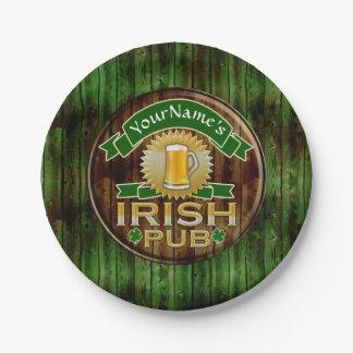 Plato De Papel Día irlandés del St Patricks de la muestra del Pub
