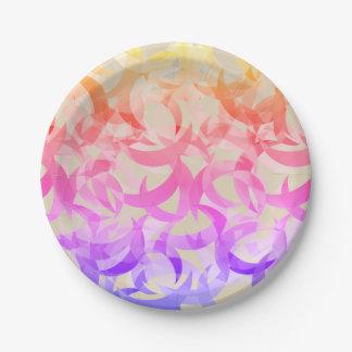 Plato De Papel Diseño creciente colorido de la luna en las placas