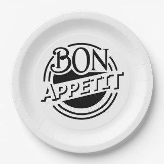 Plato De Papel Diseño de Appetit del Bon