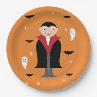 Plato De Papel Diseño de la placa de Halloween