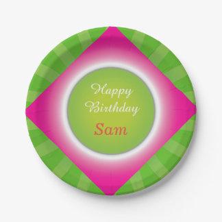 Plato De Papel Diseño estupendo de la fiesta de cumpleaños de
