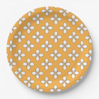 """Plato De Papel Diseño marroquí 9"""" placa de papel"""