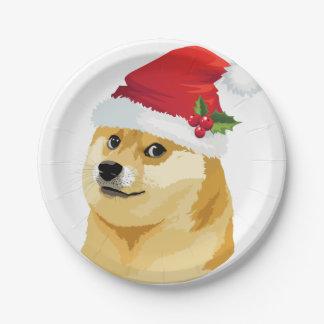 Plato De Papel Dux del navidad - dux de santa - perro del navidad