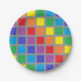 Plato De Papel El arco iris ajusta el carbón de leña