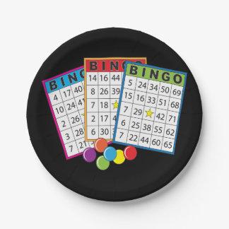 Plato De Papel El bingo carda las placas de papel