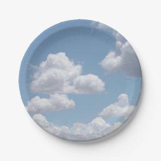 Plato De Papel El cuento de hadas se nubla las placas de papel
