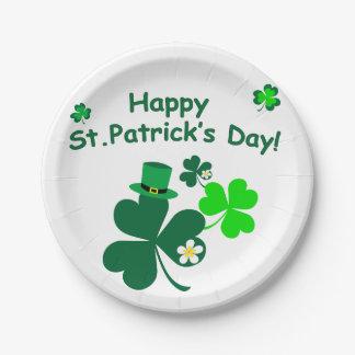 Plato De Papel El día de St Patrick feliz