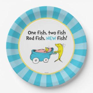 Plato De Papel El Dr. Seuss el | un pescado - fiesta de