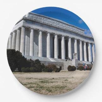 Plato De Papel El Lincoln memorial en Washington DC