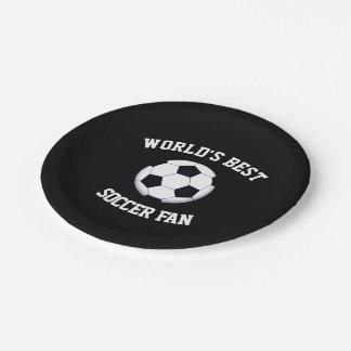 Plato De Papel El mejor aficionado al fútbol del mundo placa de
