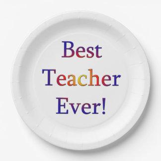 Plato De Papel El mejor profesor nunca