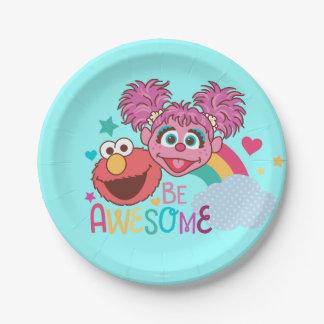 Plato De Papel El Sesame Street el | Elmo y Abby - sea