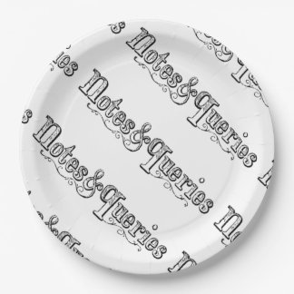 Plato De Papel El vintage observa y pregunta Typograph