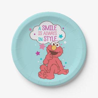 Plato De Papel Elmo el | una sonrisa está siempre en estilo